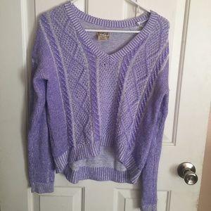 Mudd purple pastel sweater summery vintage 80's